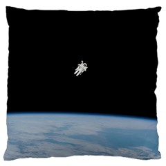Amazing Stunning Astronaut Amazed Large Flano Cushion Case (one Side) by Simbadda