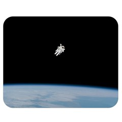 Amazing Stunning Astronaut Amazed Double Sided Flano Blanket (medium)  by Simbadda