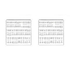 Jingle Bells Song Christmas Carol Cufflinks (square) by Simbadda