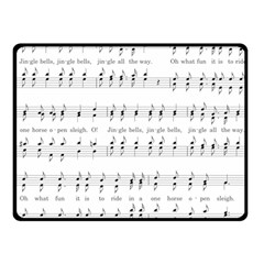 Jingle Bells Song Christmas Carol Fleece Blanket (small) by Simbadda