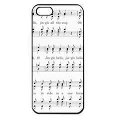 Jingle Bells Song Christmas Carol Apple Iphone 5 Seamless Case (black) by Simbadda