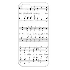 Jingle Bells Song Christmas Carol Apple Iphone 5 Seamless Case (white) by Simbadda