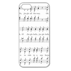 Jingle Bells Song Christmas Carol Apple Seamless Iphone 5 Case (clear) by Simbadda