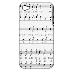 Jingle Bells Song Christmas Carol Apple Iphone 4/4s Hardshell Case (pc+silicone) by Simbadda