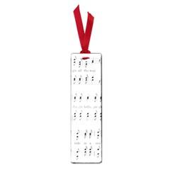 Jingle Bells Song Christmas Carol Small Book Marks by Simbadda