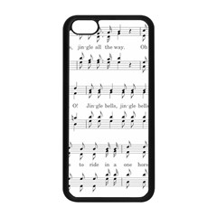 Jingle Bells Song Christmas Carol Apple Iphone 5c Seamless Case (black) by Simbadda