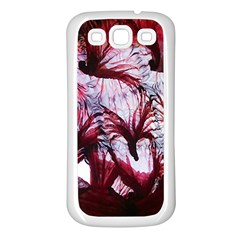 Jellyfish Ballet Wind Samsung Galaxy S3 Back Case (white) by Simbadda