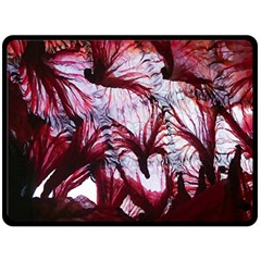 Jellyfish Ballet Wind Double Sided Fleece Blanket (large)  by Simbadda