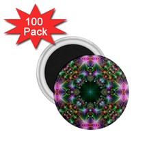 Digital Kaleidoscope 1 75  Magnets (100 Pack)  by Simbadda