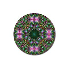 Digital Kaleidoscope Magnet 3  (round) by Simbadda