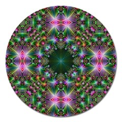 Digital Kaleidoscope Magnet 5  (round) by Simbadda