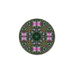 Digital Kaleidoscope Golf Ball Marker (4 Pack) by Simbadda