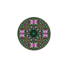 Digital Kaleidoscope Golf Ball Marker (10 Pack) by Simbadda