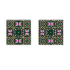 Digital Kaleidoscope Cufflinks (square) by Simbadda