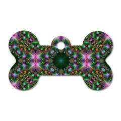 Digital Kaleidoscope Dog Tag Bone (one Side) by Simbadda