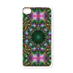 Digital Kaleidoscope Apple Iphone 4 Case (white) by Simbadda