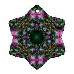 Digital Kaleidoscope Ornament (snowflake) by Simbadda