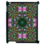 Digital Kaleidoscope Apple iPad 2 Case (Black) Front