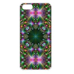 Digital Kaleidoscope Apple Iphone 5 Seamless Case (white) by Simbadda