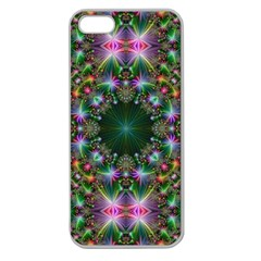 Digital Kaleidoscope Apple Seamless Iphone 5 Case (clear) by Simbadda