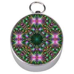 Digital Kaleidoscope Silver Compasses by Simbadda