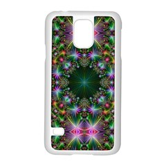 Digital Kaleidoscope Samsung Galaxy S5 Case (white) by Simbadda