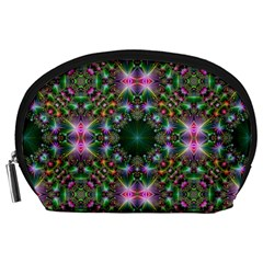 Digital Kaleidoscope Accessory Pouches (large)  by Simbadda