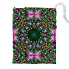 Digital Kaleidoscope Drawstring Pouches (xxl) by Simbadda