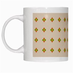 Pattern Background Retro White Mugs by Simbadda