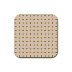 Pattern Background Retro Rubber Square Coaster (4 Pack)  by Simbadda