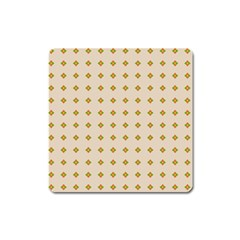 Pattern Background Retro Square Magnet by Simbadda