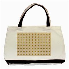 Pattern Background Retro Basic Tote Bag by Simbadda