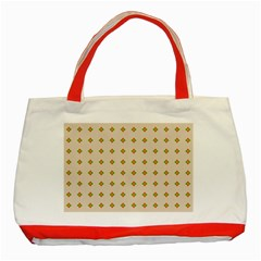 Pattern Background Retro Classic Tote Bag (red) by Simbadda