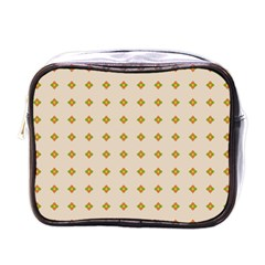 Pattern Background Retro Mini Toiletries Bags by Simbadda