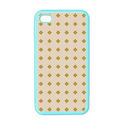 Pattern Background Retro Apple Iphone 4 Case (color) by Simbadda
