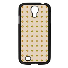 Pattern Background Retro Samsung Galaxy S4 I9500/ I9505 Case (Black)