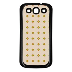 Pattern Background Retro Samsung Galaxy S3 Back Case (black) by Simbadda
