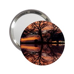 Aurora Sunset Sun Landscape 2 25  Handbag Mirrors by Simbadda