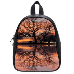 Aurora Sunset Sun Landscape School Bags (small)  by Simbadda