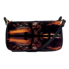 Aurora Sunset Sun Landscape Shoulder Clutch Bags by Simbadda