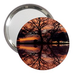 Aurora Sunset Sun Landscape 3  Handbag Mirrors by Simbadda