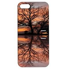 Aurora Sunset Sun Landscape Apple Iphone 5 Hardshell Case With Stand by Simbadda