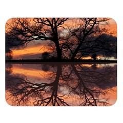 Aurora Sunset Sun Landscape Double Sided Flano Blanket (large)  by Simbadda