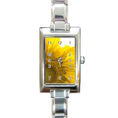 Plant Nature Leaf Flower Season Rectangle Italian Charm Watch by Simbadda