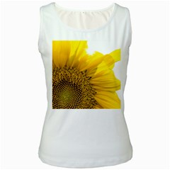 Plant Nature Leaf Flower Season Women s White Tank Top by Simbadda