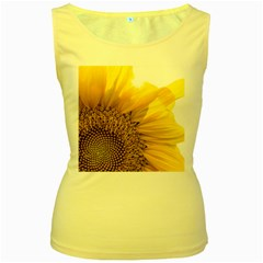 Plant Nature Leaf Flower Season Women s Yellow Tank Top by Simbadda