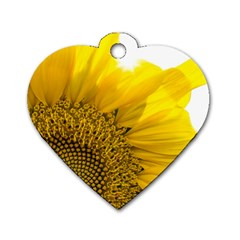 Plant Nature Leaf Flower Season Dog Tag Heart (one Side) by Simbadda