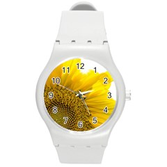 Plant Nature Leaf Flower Season Round Plastic Sport Watch (m) by Simbadda