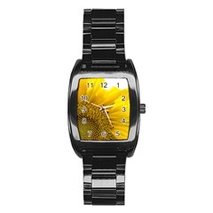 Plant Nature Leaf Flower Season Stainless Steel Barrel Watch by Simbadda