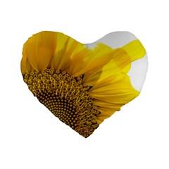 Plant Nature Leaf Flower Season Standard 16  Premium Flano Heart Shape Cushions by Simbadda